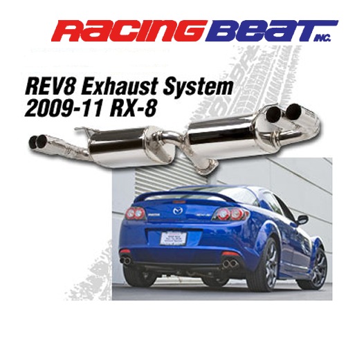Racing beat twin tip rev8 catback system for rx 8 essex rotary store racing malvernweather